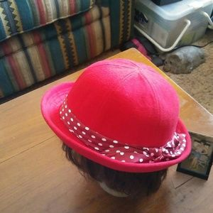 Red Hat with polka dot trimming JUST REDUCED!